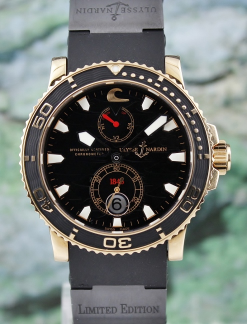 Like New Ulysse Nardin 18K Rose Gold Maxi Marine Chronometer Limited Edition 500 Pieces / 266-37